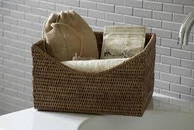 bathroom traditional hanging wicker bathroom storage basket realie