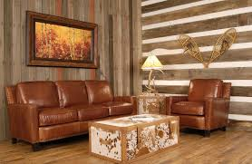 Southwestern Leather Living Room Furniture - Western decor ideas for living room