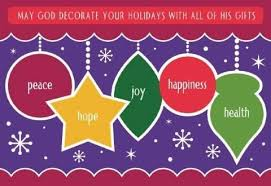 may god decorate your holidays with all of his gifts