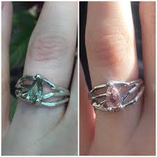 chagne engagement ring my pale alexandrite color change engagement ring my
