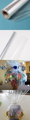 where to buy cellophane wrap for gift baskets cellophane 170102 40 in x 100 ft clear cellophane wrap roll gift
