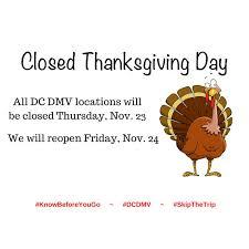 dc dmv on dc dmv locations will be closed thursday nov