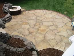 Best Sealer For Flagstone Patio by Random Cut Buff Flagstone Patio With Brick Edge And Natural