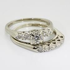 pawn shop wedding rings vintage wedding rings 14k white gold vintage wedding