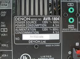 denon india home theater denon avr 1804 6 1 channel 875w audio video surround home theater