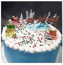 Christmas Cake Decorations Australia by Amazon Com Oasis Supply Santa On Sleigh With Reindeer Christmas