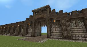 Minecraft Castle Floor Plans Detailed Medieval Wall Entrance Now With Added Guard Tower