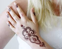 white henna temporary tattoo bohemian temporary tattoo