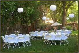Backyard Wedding Centerpiece Ideas Backyard Decorations My Web Value