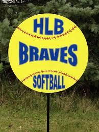 Softball Christmas Ornament - personalized sports yard signs football baseball basketball