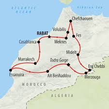 Map Of Morocco And Spain by Two Week Cultural U0026 Beach Tour Of Morocco On The Go Tours