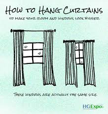 how to hang curtain rod above window how to hang curtains