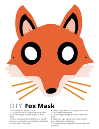 halloween fox fox mask free download free fox mask diy fox mask
