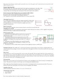 Which Fuse Is For The Class X Magnetic Effects Of Electric Current Notes Notes