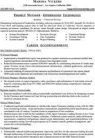 technical project manager resume u2013 okurgezer co