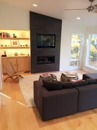 iron grey 4 u0027 x 4 u0027 neolith tile living room fireplace surround