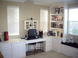 chino hills ca custom home office desk finished in white lacquer