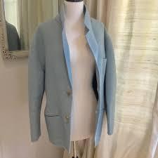 issey miyake light blue issey miyake jackets blazers issey miyake jacket short coat