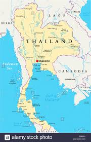 World Map Vietnam by Thailand Political Map With Capital Bangkok National Borders