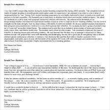 letter of recommendation for student 35 download free documents