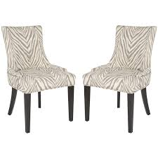 Zebra Dining Chairs Safavieh En Vogue Dining Lester Grey Zebra Dining Chairs Set Of 2