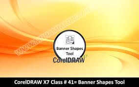 banner design in coreldraw x7 working with banner shapes tool in coreldraw x7