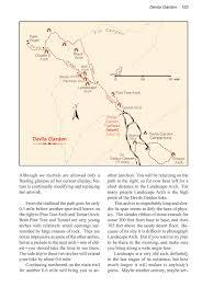 Arches National Park Map Devils Garden Arches National Park