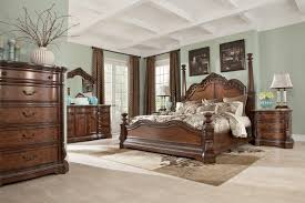 Bedroom Set With Media Chest Ledelle Poster Bedroom Set With Tall Headboard Posts In Brown