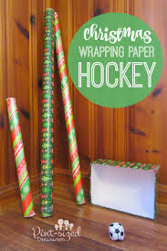 christmas wrapping paper hockey game pint sized treasures