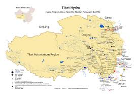 China River Map by Plateau Maps Meltdown In Tibet
