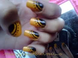 black and yellow nail art gallery