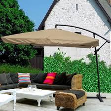 Patio Umbrella Stand Walmart by Amazon Com Yescom 9 U0027 Tan Outdoor Patio Offset Umbrella W
