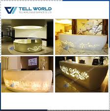 Restaurant Reception Desk Acrylic Round Shop Cash Counter Design Restaurant Reception Desk