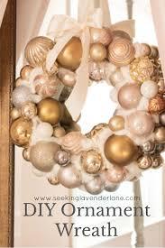 diy ornament wreath seeking lavendar