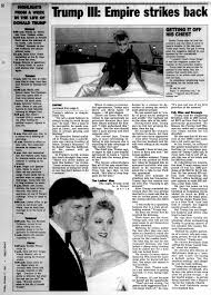 Blame It On Vanity Excerpt The Empire Strikes Back In 1997 Book Trump Dishes On Ex Wives