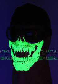 ghost glow mask glow in the dark camo bandana face dust mask skull camouflage cod