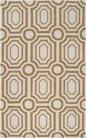 Gold Rugs Contemporary Gold And White Geometric Hudson Park Rug By Surya