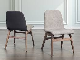 Dining Chairs Grey Gray Fabric Dining Chairs Visionexchange Co
