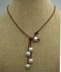 freshwater pearl necklace choker images Best 25 leather pearl necklace ideas pearl choker jpg