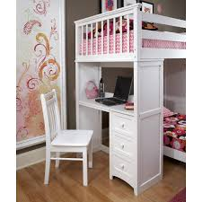 Bunk Bed Computer Desk Ne Schoolhouse Stairway Loft Bed White Hayneedle