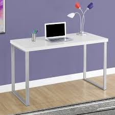Monarch Computer Desk Monarch Computer Desk 48 L White Silver Metal Walmart