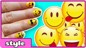 easy emoji nail art diy emoji nails tutorial youtube