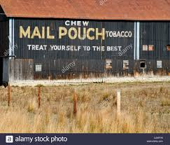 Pennsylvania travel pouch images Mail pouch tobacco advertisement on side of barn in rural stock jpg