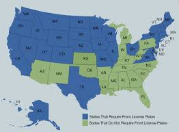 Blank Map Of The 50 States by Which States Don U0027t Require A Front License Plate News Cars Com