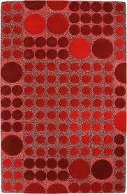 Allure Rugs Modernrugs Com Allure Red Dots Modern Rug Sangria Reds