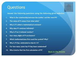 pi day web quest introduction task process evaluation conclusion