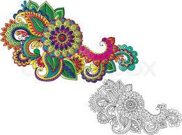 indian style henna tattoo stock vector colourbox