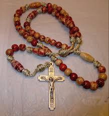 knotted rosary wooden knotted rosary wooden and cord