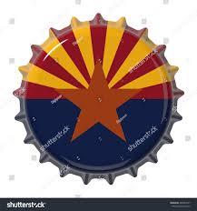 Az State Flag Arizona State Flag On Bottle Cap Stock Illustration 289047257