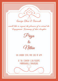 engagement greeting card engagement ceremony invitation wordings betrothal invitation card